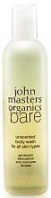 Profumi e cosmetici Gel doccia - John Masters Organics Bare Unscented Body Wash