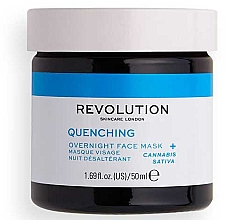 Profumi e cosmetici Maschera per il viso - Revolution Skincare Thirsty Mood Quenching Moisturizing Night Facial Mask