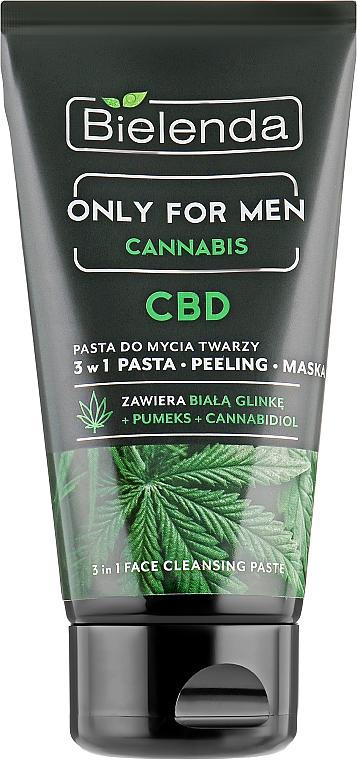 Pasta detergente viso - Bielenda Only For Men 3in1 Face Cleansing Paste