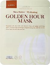 Profumi e cosmetici Maschera viso in tessuto idratante - Elroel Golden Hour Mask Shea Butter Hydrating