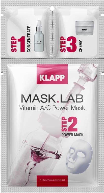 "Maschera ""Vitamina A,C"" - Klapp Mask Lab Vitamin A/C Power Mask"