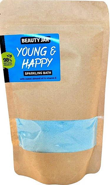 Polvere effervescente con olio di mandorle dolci e vitamina E - Beauty Jar Young and Happy Sparkling Bath