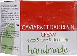 Profumi e cosmetici Crema per occhi, viso e décolleté con estratto di caviale e resina di cedro - Hristina Cosmetics Handmade Caviar & Cedar Resin Cream
