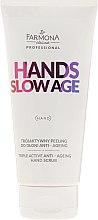 Profumi e cosmetici Scrub mani - Farmona Hands Slow Age Triple Active Anti-ageing Hand Scrub
