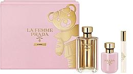 Profumi e cosmetici Prada La Femme L'Eau - Set (edt/100ml +b/lot/100ml + edt/mini/10ml)