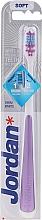 Profumi e cosmetici Spazzolino da denti, morbido, viola - Jordan Shiny White Toothbrush Soft