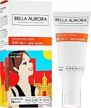 Profumi e cosmetici Crema solare viso - Bella Aurora Protector Solar Pre-Base SPF50+