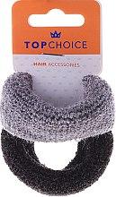 Profumi e cosmetici Elastici per capelli 2 pz, nero e grigio - Top Choice