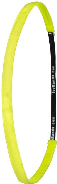 Fascia per capelli, giallo neon - Ivybands Neon Yellow Super Thin Hair Band