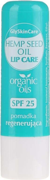 Balsamo labbra con olio di canapa biologico - GlySkinCare Organic Hemp Seed Oil Lip Care