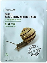 Profumi e cosmetici Maschera viso in tessuto - Lebelage Snail Solution Mask
