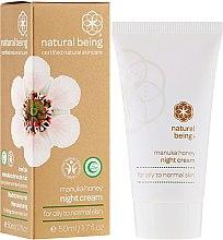 Profumi e cosmetici Crema viso, per pelli normali e grasse - Natural Being Manuka Honey Night Cream