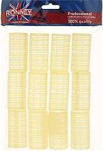 Profumi e cosmetici Bigodini in velcro 32/63, gialli - Ronney Professional Velcro Roller