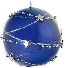 Profumi e cosmetici Candela decorativa, palla, blu, 10 cm - Artman Christmas Garland