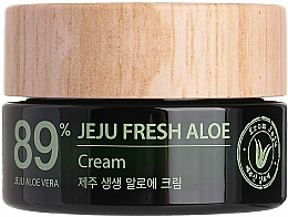 Profumi e cosmetici Crema idratante rinfrescante con 89% succo di aloe vera - The Saem Jeju Fresh Aloe Cream