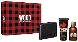 Profumi e cosmetici Dsquared2 Wood Pour Homme - Set (edt/100ml + sh/gel/100ml + wallet)