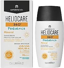 Profumi e cosmetici Gel solare minerale per bambini SPF 50+ - Cantabria Labs Heliocare 360? Pediatrics Mineral SPF 50+