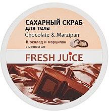 Profumi e cosmetici Scrub zucchero per corpo - Fresh Juice Chocolate and Marzipan