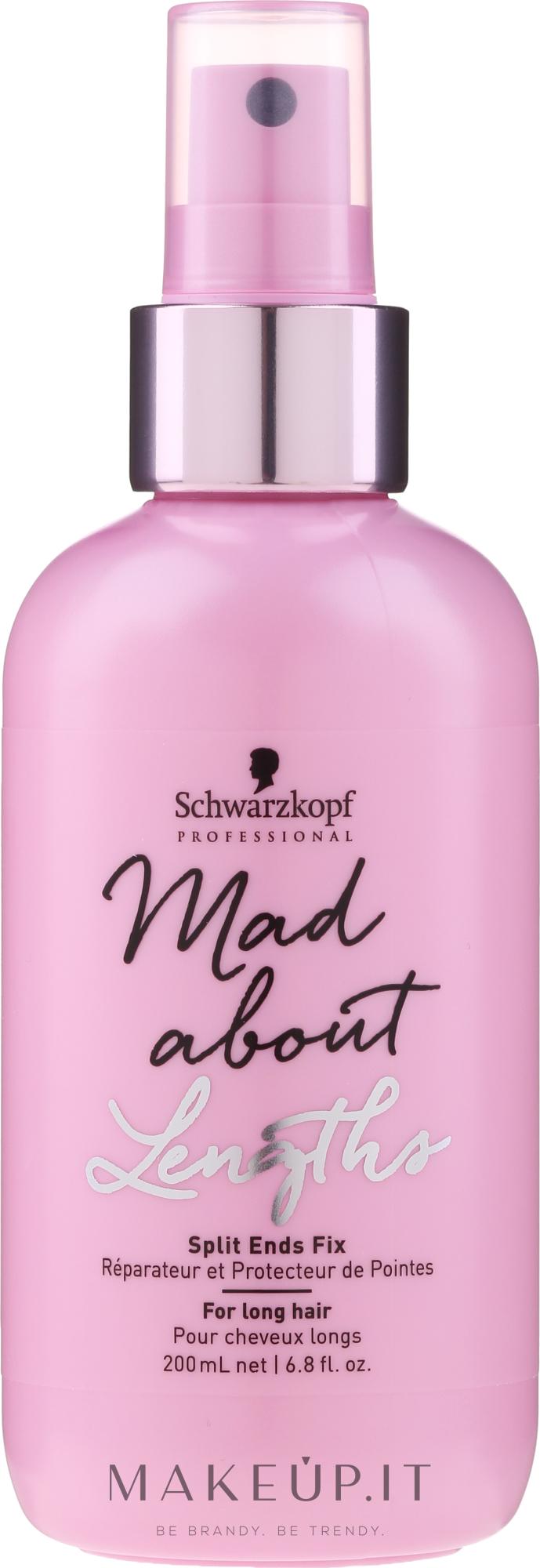 Spray per punte secche e doppie punte - Schwarzkopf Professional Mad About Lengths Split Ends Fix — foto 200 ml