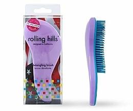 Profumi e cosmetici Spazzola per capelli, viola chiaro - Rolling Hills Detangling Brush Travel Size Light Purple