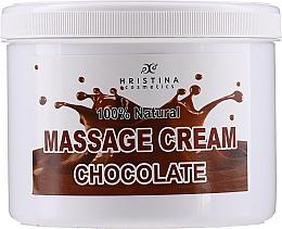 """Profumi e cosmetici Crema da massaggio per viso e corpo """"Chocolate"""" - Hristina Cosmetics Chocolate Massage Cream"""