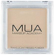 Profumi e cosmetici Cipria trasparente opaca per viso - MUA Translucent Pressed Powder