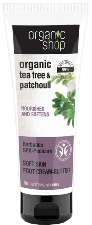 Crema-burro organico per piedi - Organic Shop Tea Tree & Patchouli Barbados SPA-Pedicure