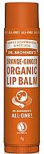"""Profumi e cosmetici Balsamo labbra """"Arancia e zenzero"""" - Dr. Bronner's Orange & Ginger Lip Balm"""