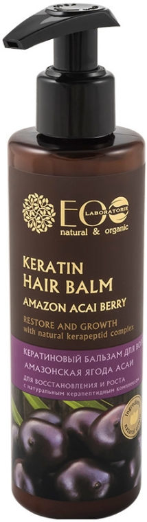 Balsamo alla cheratina - Eco Laboratorie Keratin Hair Balm Amazon Acai Berry