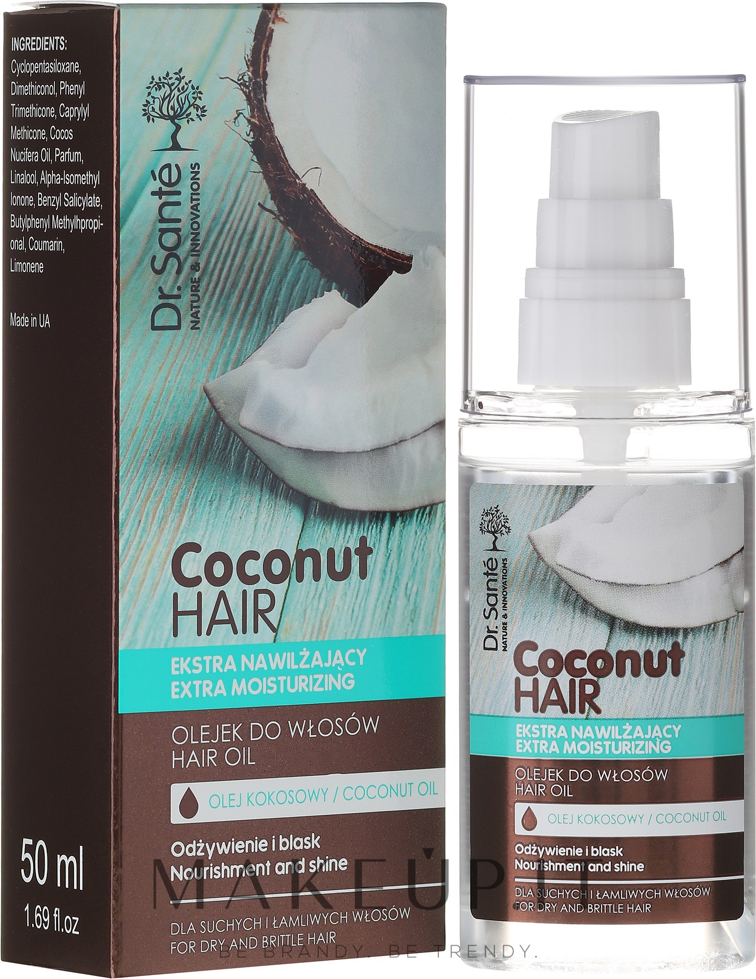 """Olio capelli """"Nutrizione e Lucentezza"""" - Dr. Sante Coconut Hair — foto 50 ml"""