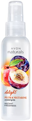 "Lozione-spray corpo ""Prugna e Nettarina"" - Avon Naturals Body Spray"