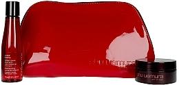 Profumi e cosmetici Set - Shu Uemura Art Of Hair Color Lustre (shmp/75ml + h/wax/77ml + bag)