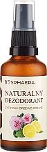 Profumi e cosmetici Deodorante naturale al limone e rosa - Bosphaera