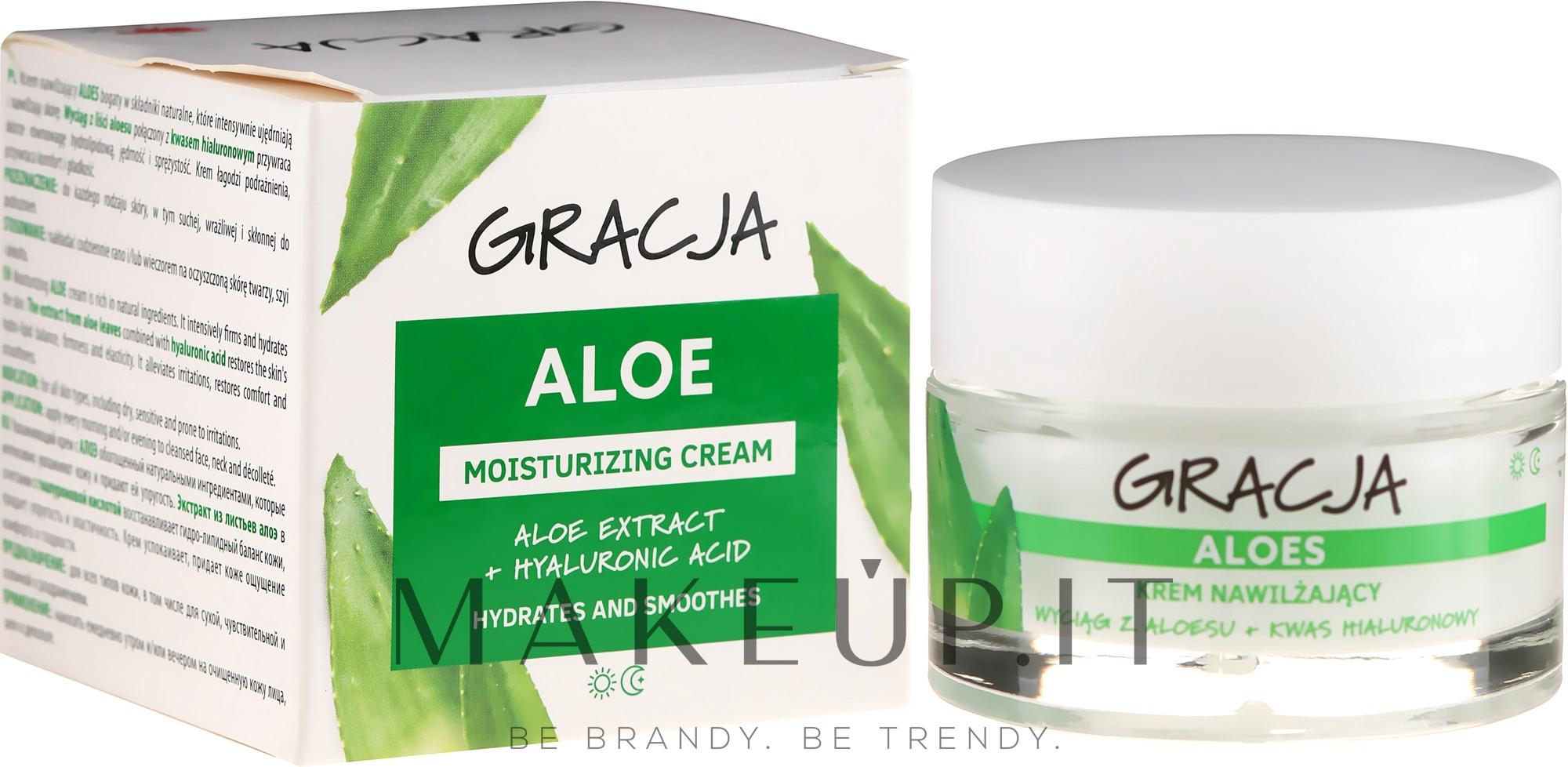 Gracja Aloe Moisturizing Face Cream - Crema Idratante..
