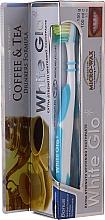 """Profumi e cosmetici Set """"Per gli amanti del tè e del caffè"""", spazzolino da denti blu e bianco - White Glo Coffee & Tea Drinkers Formula Whitening Toothpaste (toothpaste/100ml + toothbrush)"""