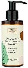Profumi e cosmetici Gel detergente lenitivo - Nature Queen Soothing Facial Washing Gel