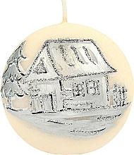 Profumi e cosmetici Candela decorativa, 10 cm, palla, crema - Artman Ice Land