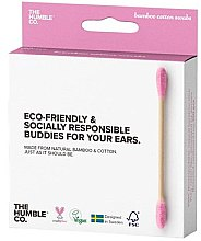 Profumi e cosmetici Bastoncini di cotone di bambù - The Humble Co. Cotton Swabs Pink