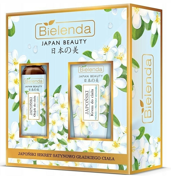 Set - Bielenda Japan Beauty Jasmine Extract And Tsubaki Oil (b/oil/400ml + body/cr/200ml)