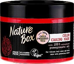Profumi e cosmetici Maschera intensiva per proteggere il colore dei capelli - Nature Box Pomegranate Oil Maska