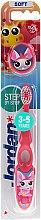 Profumi e cosmetici Spazzolino da denti per bambini Step 2 (3-5) morbido, rosa-bianco - Jordan