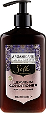 Profumi e cosmetici Balsamo indelebile per capelli ricci - Arganicare Silk Leave-In Conditioner For Curly Hair