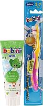 Profumi e cosmetici Set con pennello giallo-rosa - Bobini (toothbrush + toothpaste/75ml)