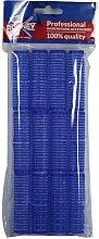 Profumi e cosmetici Bigodini in velcro 16/63, blu - Ronney Professional Velcro Roller