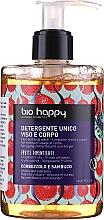 """Profumi e cosmetici Gel per viso e corpo """"Corbezzolo e sambuco"""" - Bio Happy Arbutus & Elderberry Face & Body Wash"""