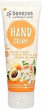 """Profumi e cosmetici Crema mani """"Albicocca e sambuco"""" - Benecos Natural Care Apricot & Elderflower Hand And Nail Cream"""