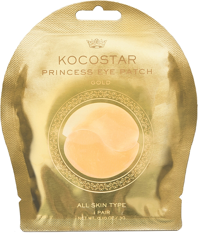 Patch occhi in idrogel, oro - Kocostar Princess Eye Patch Gold — foto N1