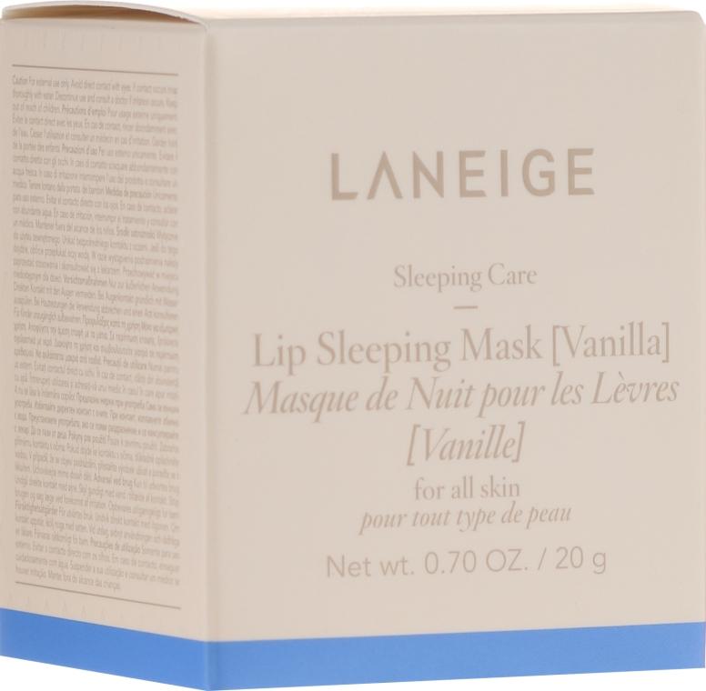 """Maschera labbra intensamente rigenerante """"Vanilla"""", da notte - Laneige Sleeping Care Lip Sleeping Mask Vanilla"""