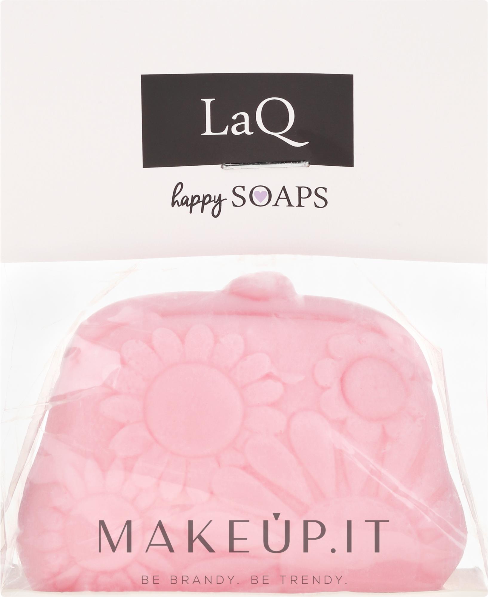 """Sapone naturale fatto a mano """"Borsa"""" con aroma di ciliegia - LaQ Happy Soaps Natural Soap — foto 70 g"""