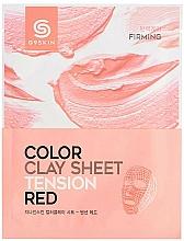 Profumi e cosmetici Maschera viso in foglio di argilla - G9Skin Color Clay Sheet Tension Red
